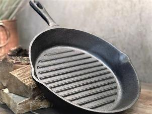 Cast Iron Ribbed Pan GRILL Ø 20 cm