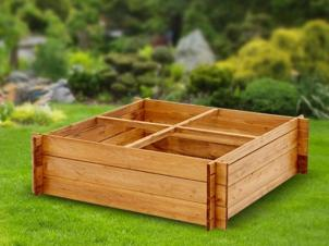 Raised bed 4-section