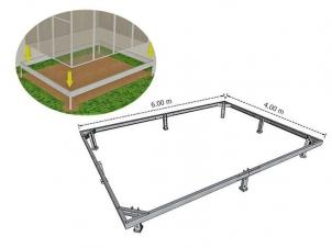 Foundation (Galvanized Steel) 4x6 m