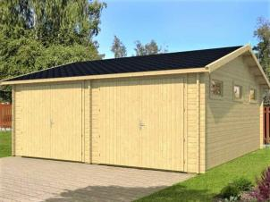 Wooden garage Kotka 40