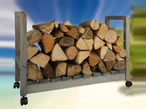 Firewood Rack with wheels