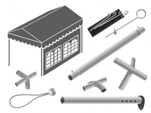 Spare parts for PVC & PE tents