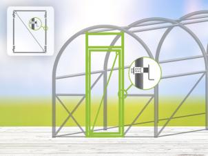 Greenhouse Door Kit 2m