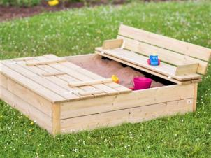 Sandbox with lid and seats