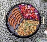 Black steel pan TRIO 70 cm