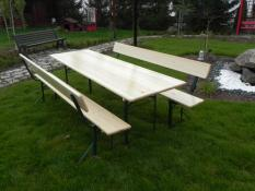 1 table + 2 benches REST
