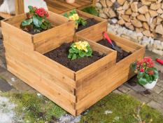 Multi level planter boxes