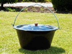 Enamelled pot with lid 14 L