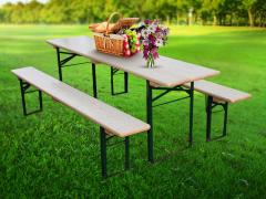 1 table + 2 benches STANDARD70
