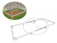 Pamati siltumnīcai (tērauda) +2 m