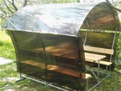 Pavillon aus Polycarbonat LONDON LUX 4mm