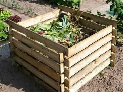 Ящик для компоста из дерева