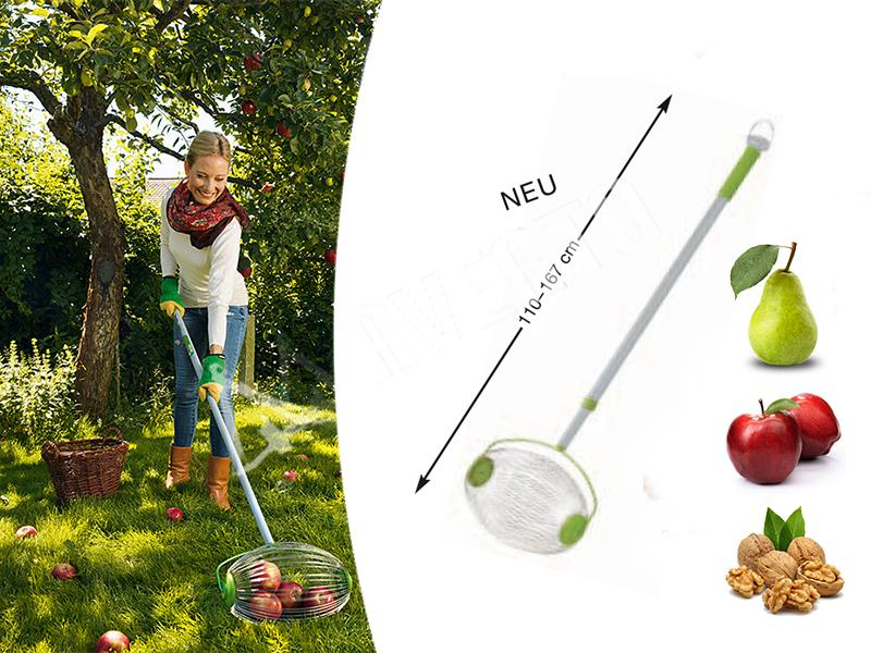 Rolling fruit collector apple gatherer freund victoria for Gardening tools victoria