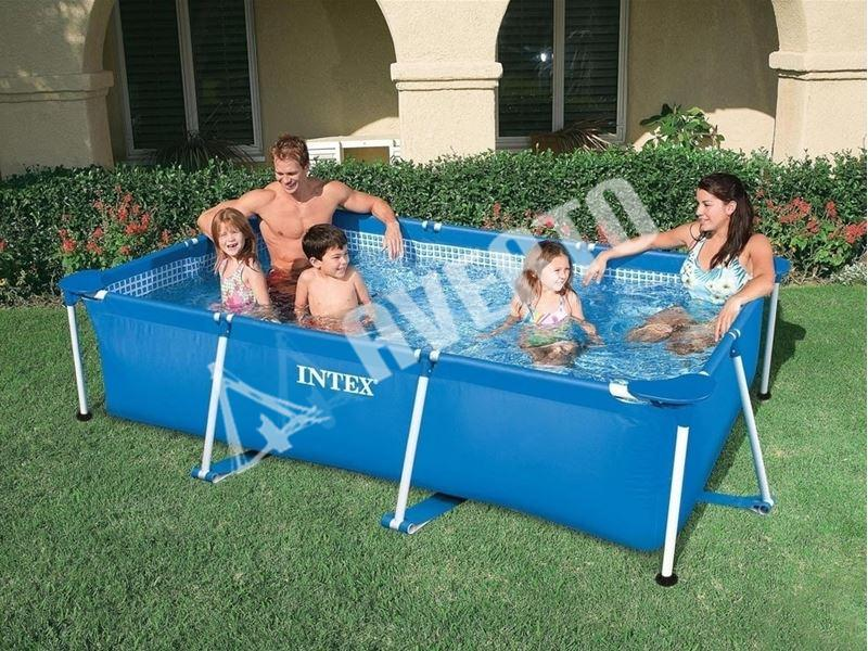 rechteck frame pool intex intex schwimmbecken. Black Bedroom Furniture Sets. Home Design Ideas