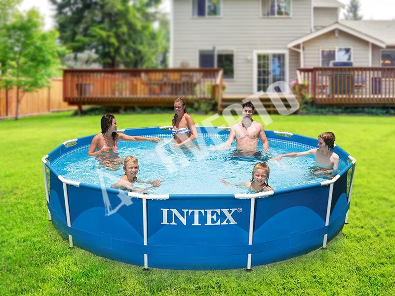 intex schwimmbecken 305x76cm intex frame pool. Black Bedroom Furniture Sets. Home Design Ideas