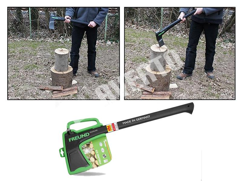Wood splitting splitting axe for medium logs freund for Gardening tools victoria
