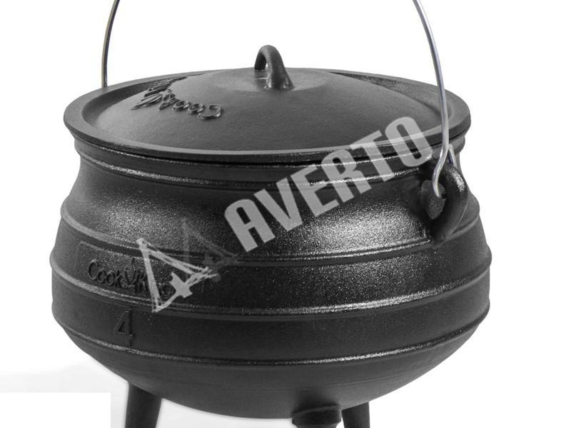 Gusseisenkessel 9 l für Kochen auf Feuer | Campingkocher und Grills