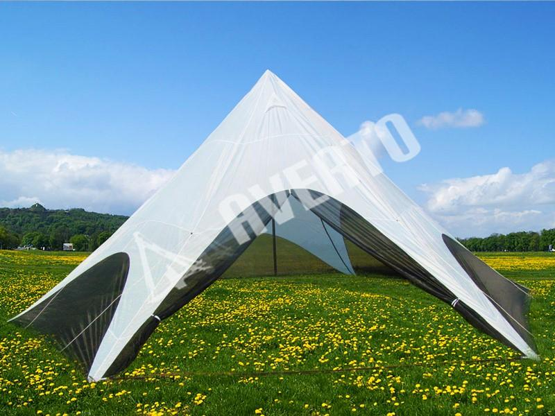 STAR Style Shade 8 m Ø & Fast erect Star Shade tent 8 m Ø | Low cost Tents