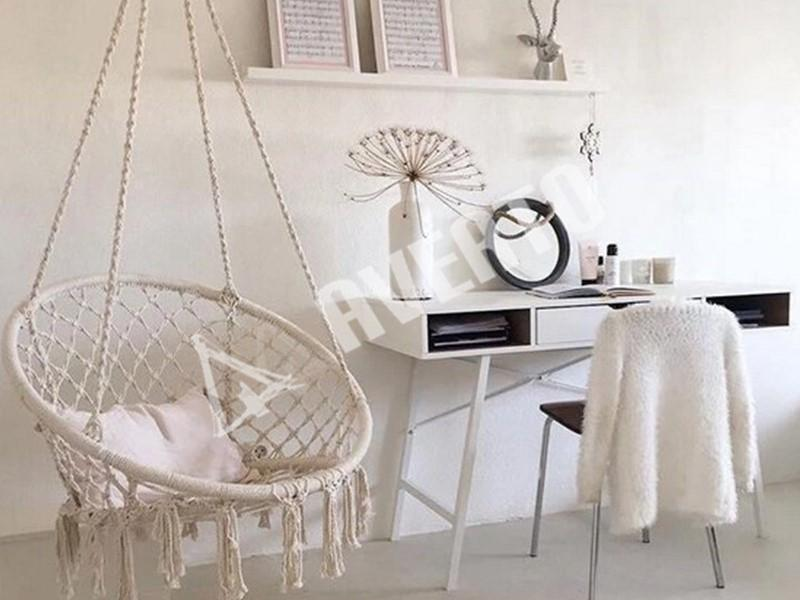 Crochet Hanging Chair For Outdoors And Indoors Averto