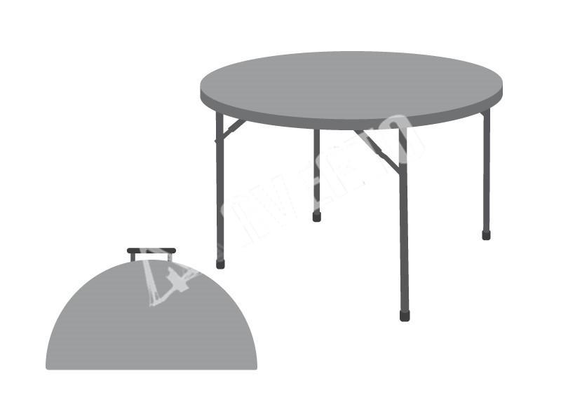 runder klapptisch 181 cm sto fest und pflegeleicht. Black Bedroom Furniture Sets. Home Design Ideas