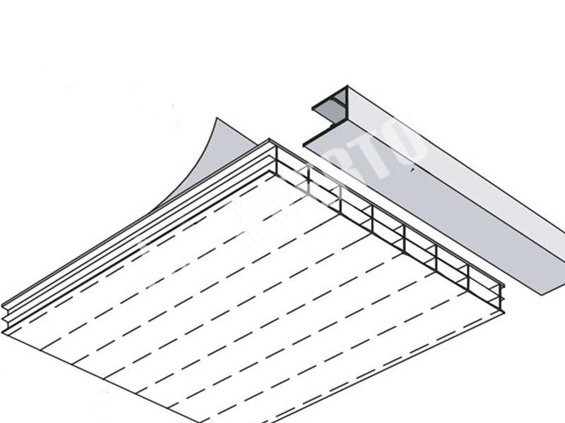 Top Gewächshaus Endprofil 4 mm   Averto IF18