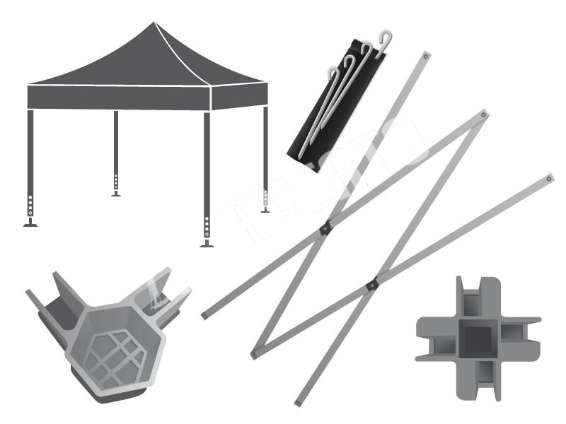 Spare Parts Mail: Pop-up Tent Spare Parts