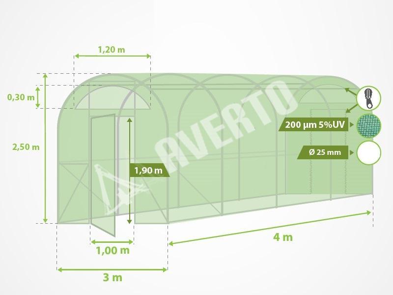 Tunnel gew chshaus porta 3x4 m online shop for Porta online shop