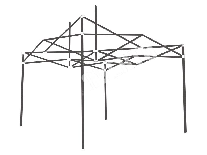 Folding Tent Steel Frame 3x4,5m | Tents at a great price