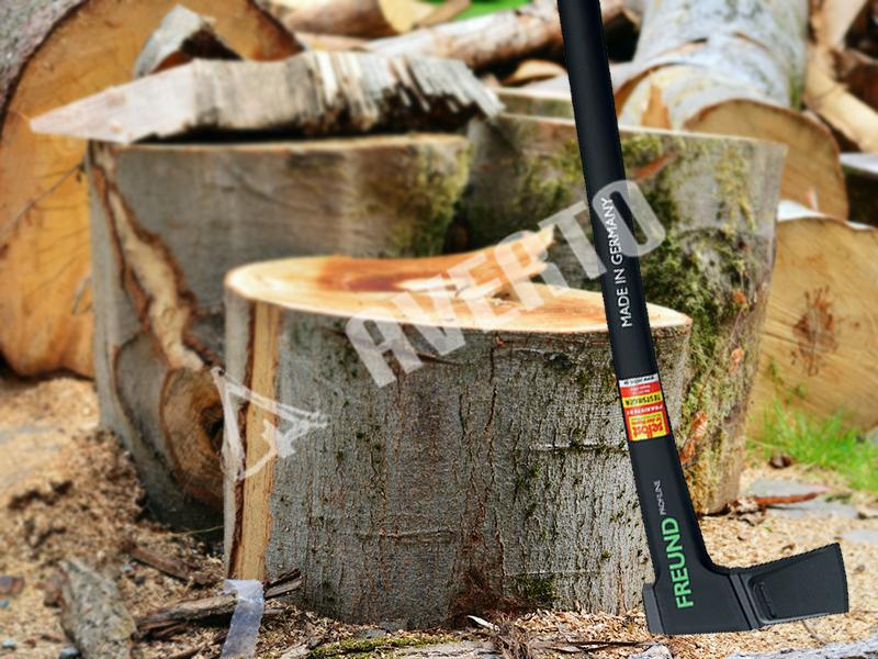 Wood splitting splitting axe for large logs freund for Gardening tools victoria