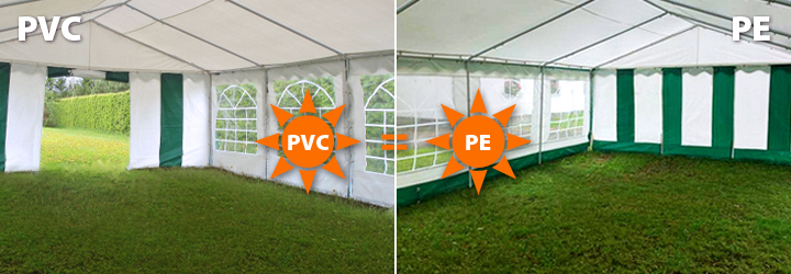 PVC ir PE palapinai